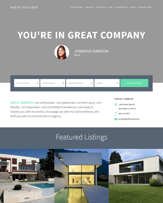 agent real estate wordpress themes