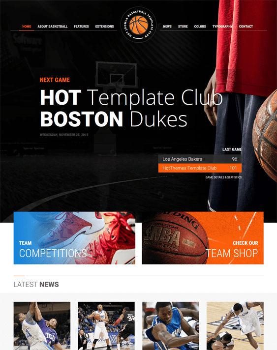 basketball j2store templates