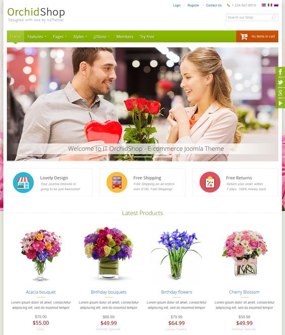 it orchidshop j2store templates