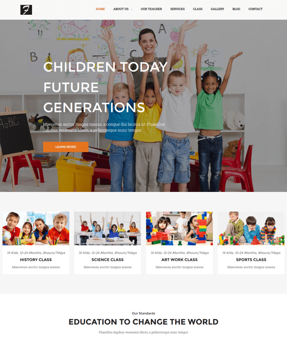 nt priskul school education wordpress themes