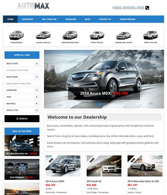 automax automotive car vehicle wordpress themes