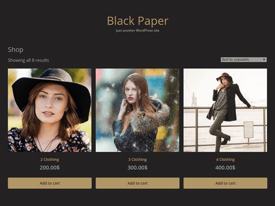 black paper free dark wordpress themes