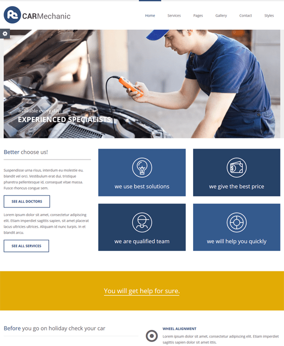 business automotive car vehicle wordpress themes