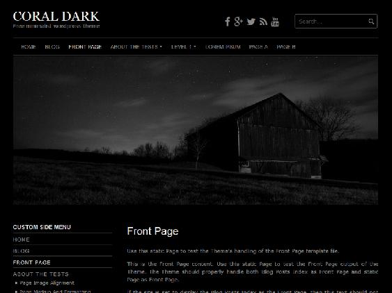 coral free dark wordpress themes