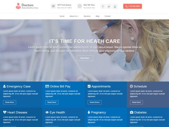 doctors free parallax wordpress themes