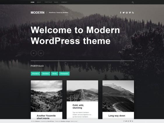 modern free dark wordpress themes
