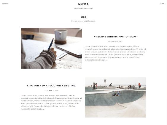 munsa free minimal wordpress themes
