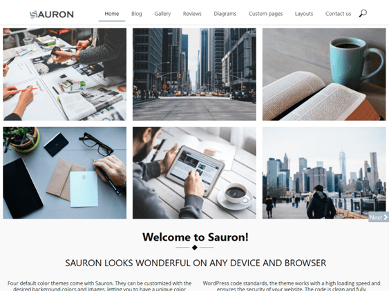 sauron free one page wordpress themes