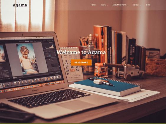 agama free parallax wordpress themes