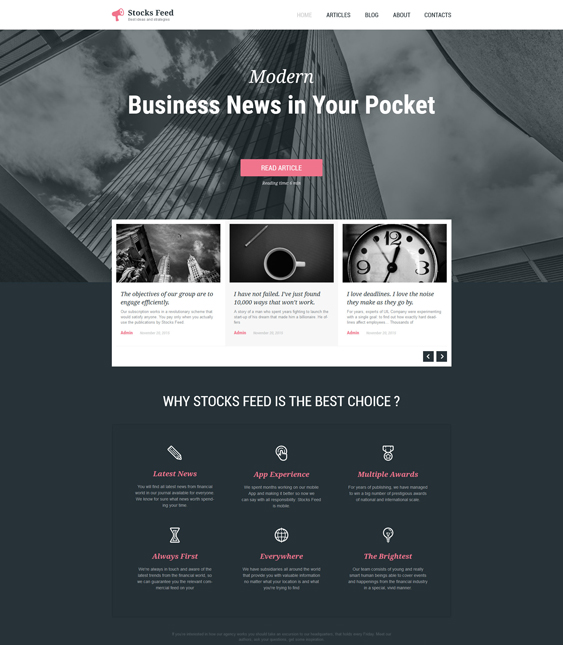 business parallax wordpress themes