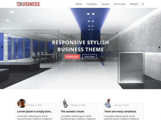 business world free parallax wordpress themes