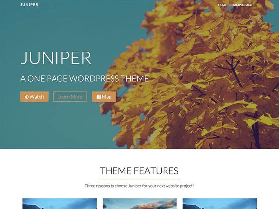 juniper free parallax wordpress themes