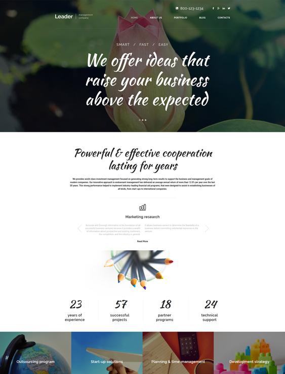leader parallax wordpress themes