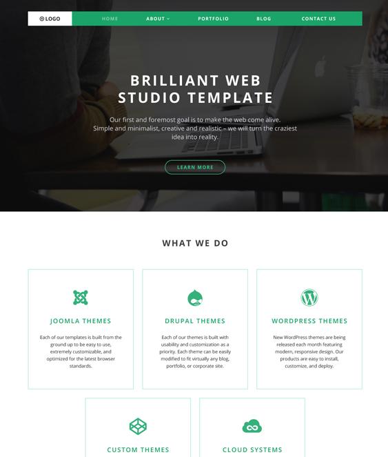 logo parallax wordpress themes