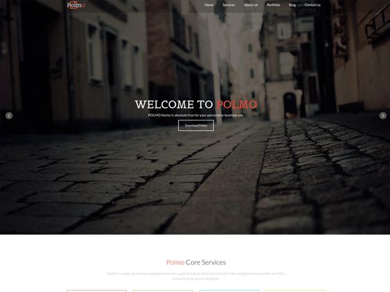 polmo free parallax wordpress themes