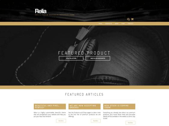relia free parallax wordpress themes
