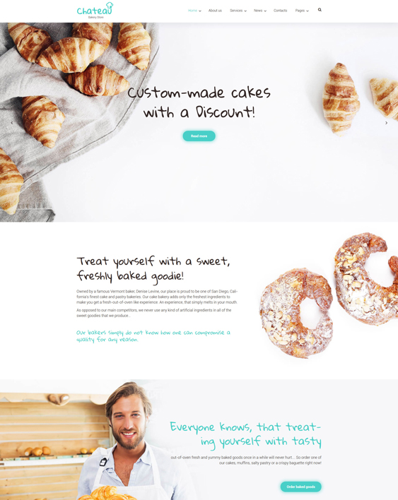 bakery restaurant wordpress themes