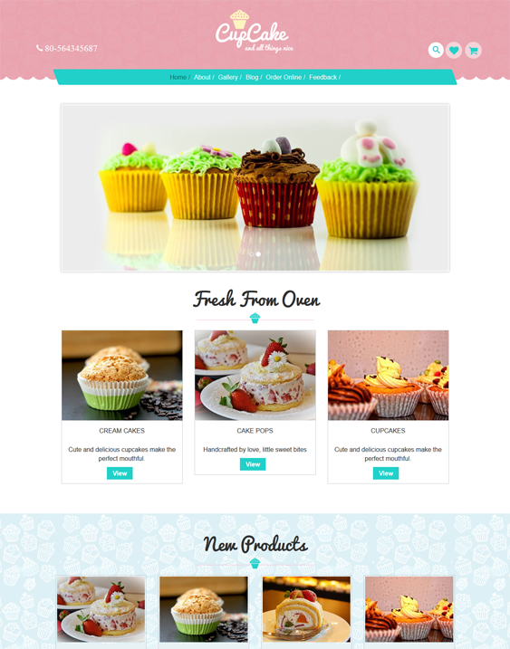 cupcake restaurant wordpress themes