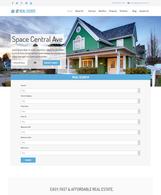 lt real estate wordpress themes