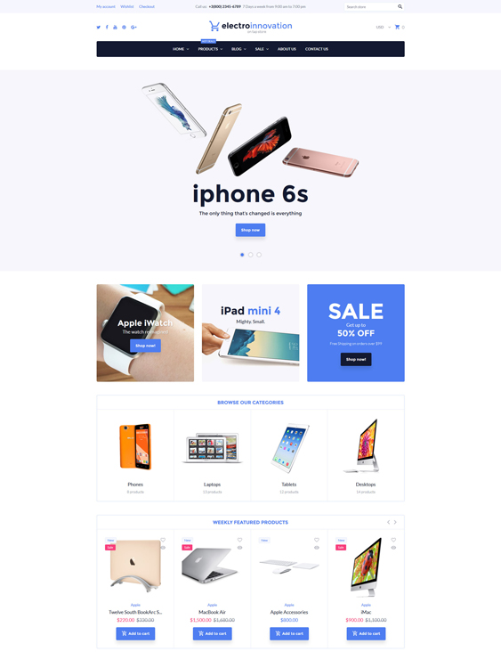 Electro Innovation responsive shopify themes