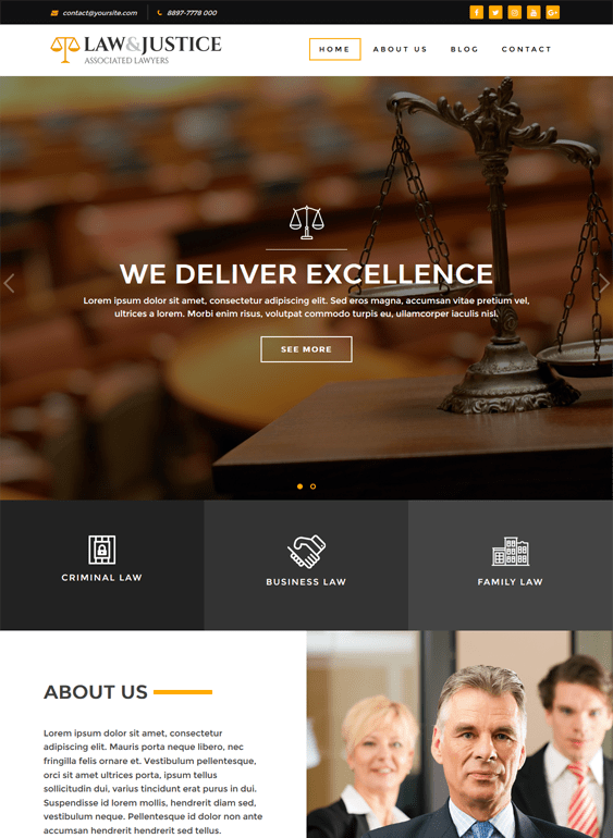 law justice lawyer wordpress themes