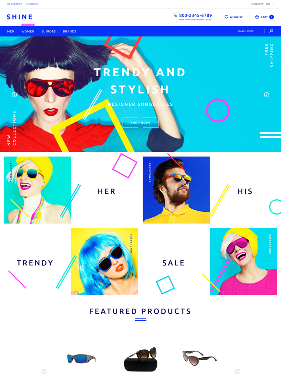 Shine responsive shopify themes