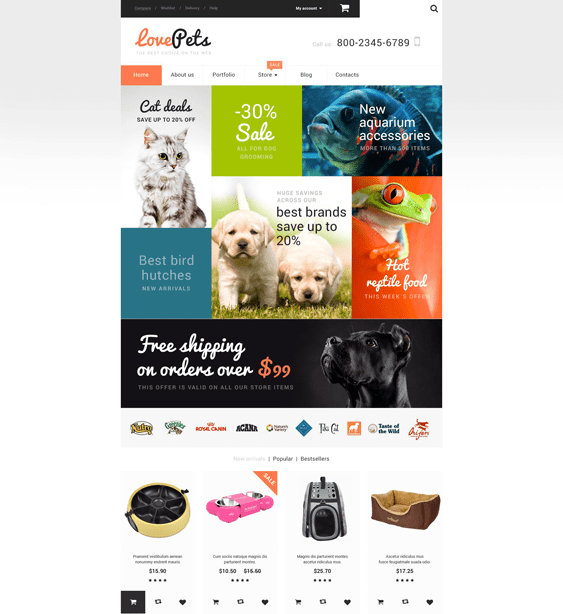 love pet woocommerce themes