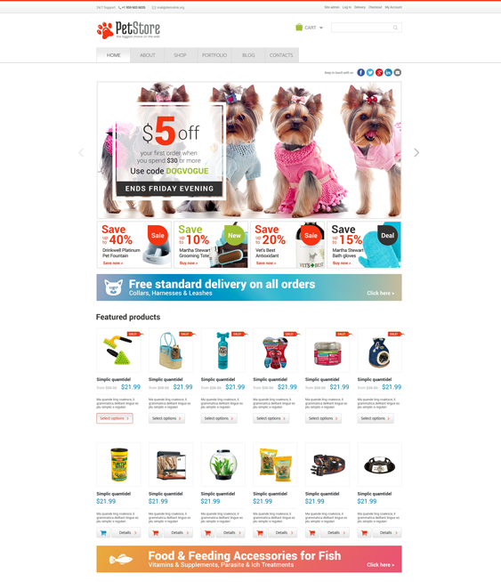 pet woocommerce themes shop