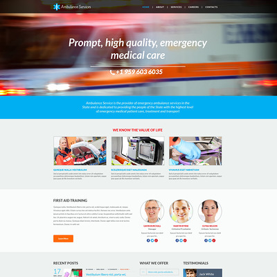 Ambulance Responsive Website Template (medical Bootstrap website template) Item Picture
