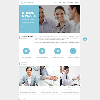 Counseling Responsive Website Template (medical Bootstrap website template) Item Picture