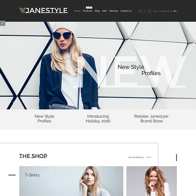 JaneStyle Shopify Theme (clean Shopify theme) Item Picture