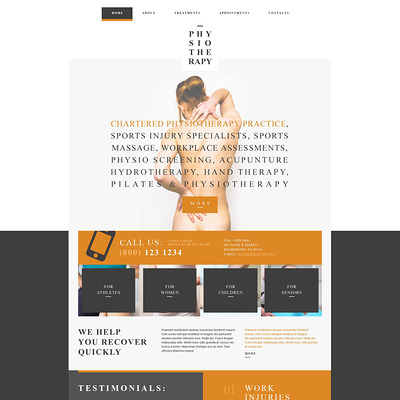 Medical Responsive Website Template (medical Bootstrap website template) Item Picture