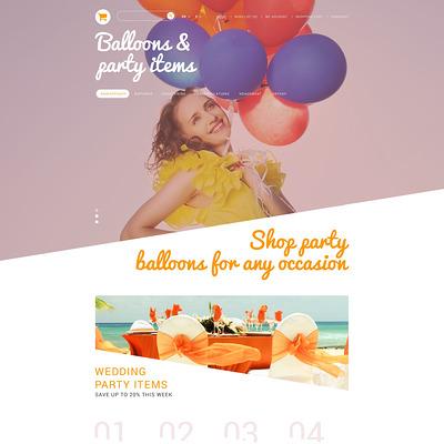 Party Stuff PrestaShop Theme (PrestaShop theme for selling party supplies) Item Picture
