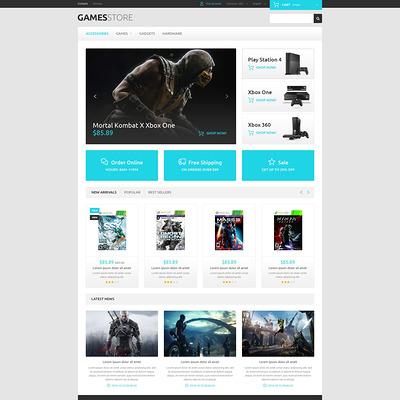 Video Games PrestaShop Theme (PrestaShop theme for video game stores) Item Picture