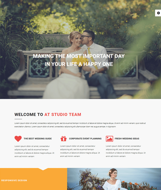 at studio wedding joomla templates