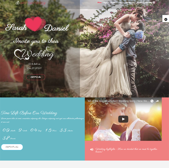 at weddy wedding joomla templates