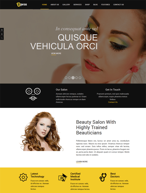 opoza beauty salons spas joomla templates