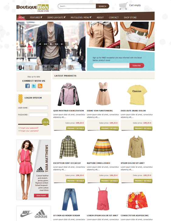 ot boutique virtuemart joomla templates