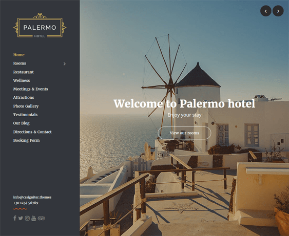 palermo hotel wordpress themes