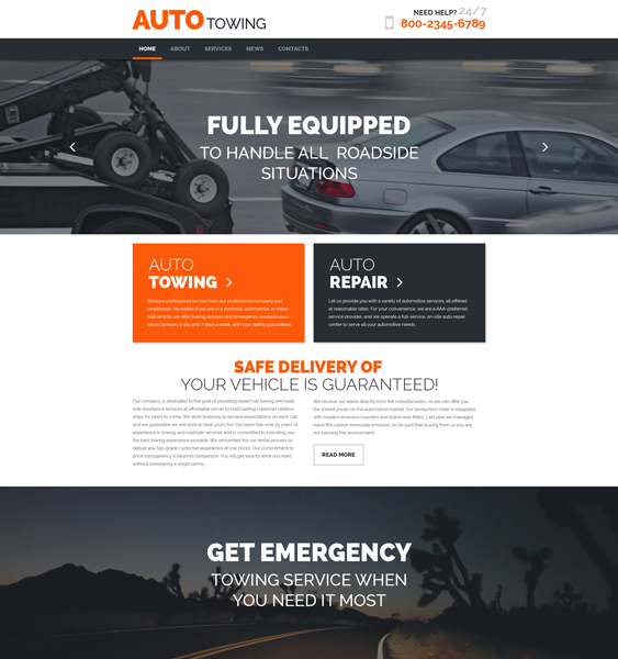 AutoTowing WordPress Theme car vehicle automotive