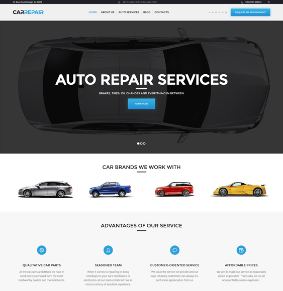 WordPress Theme car vehicle automotive repair