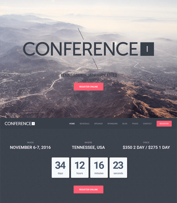 conference wordpress themes events