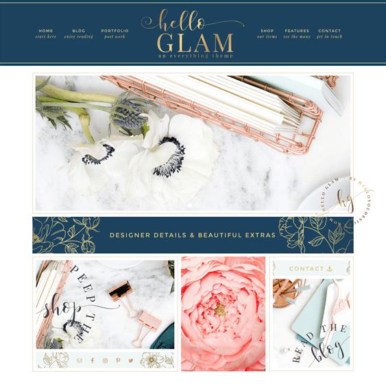 hello glam feminine wordpress themes