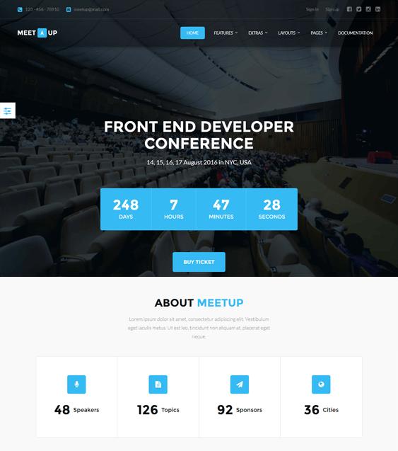 meetup joomla templates events