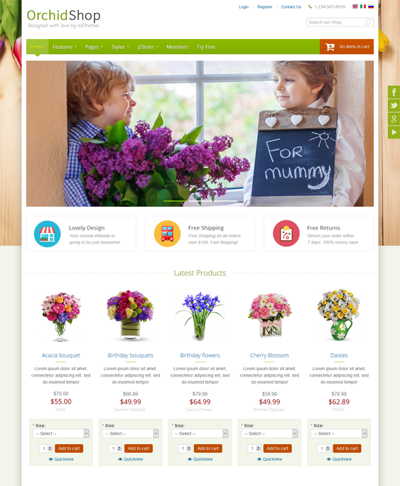 Joomla Template for Florists