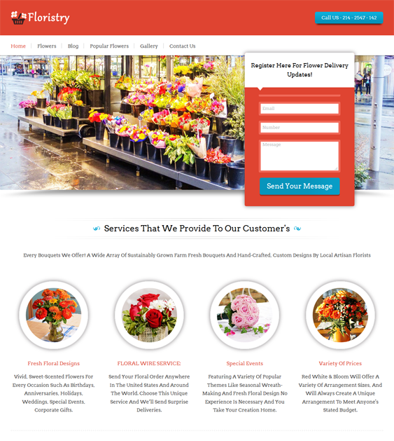 floristry florists flower shops wordpress themes