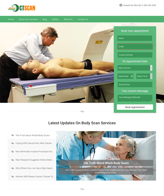 ct scan medical wordpress themes