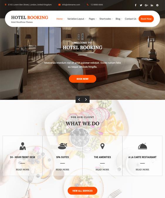 hotel wordpress themes booking