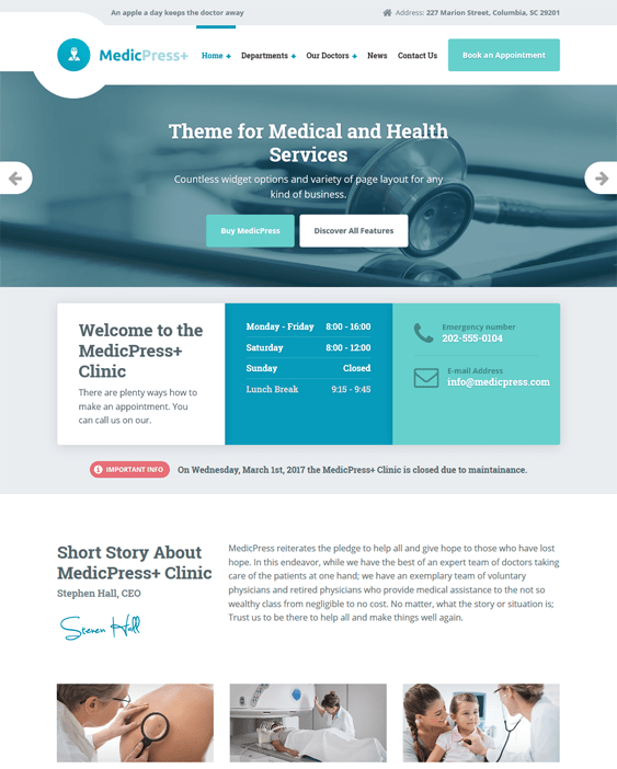 medicpress medical wordpress themes