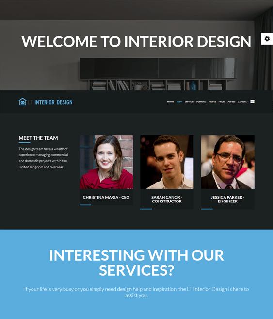 lt interior design joomla templates